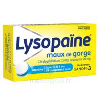 LysopaÏne Comprimés à Sucer Maux De Gorge Sans Sucre 2t/18 à DIGNE LES BAINS