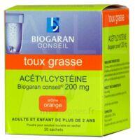 Acetylcysteine Biogaran Conseil 200 Mg Pdr Sol Buv En Sachet B/20 à DIGNE LES BAINS