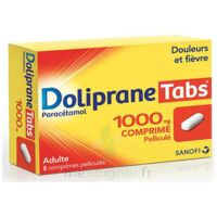 Dolipranetabs 1000 Mg Comprimés Pelliculés Plq/8 à DIGNE LES BAINS