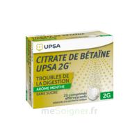 Citrate De Bétaïne Upsa 2 G Comprimés Effervescents Sans Sucre Menthe édulcoré à La Saccharine Sodique T/20 à DIGNE LES BAINS