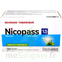 Nicopass 1,5 Mg Pastille Sans Sucre Menthe Fraîcheur Plq/96 à DIGNE LES BAINS