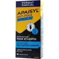 Apaisyl Anti-poux Xpress 15' Lotion Antipoux Et Lente 200ml+peigne à DIGNE LES BAINS