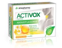 Activox Sans Sucre Pastilles Miel Citron B/24 à DIGNE LES BAINS